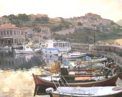 Molyvos view from harbor