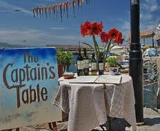 The Captain's table at Molyvos harbor
